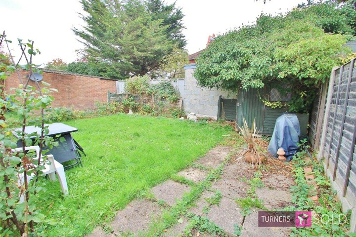 Rear garden of flat in St James Avenue, Sutton, Sold by Turners Estate Agents, Morden.