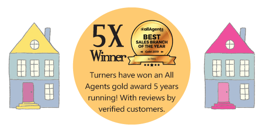Best Estate Agents Morden | Turners Property win All Agents Gold Award 5 years running