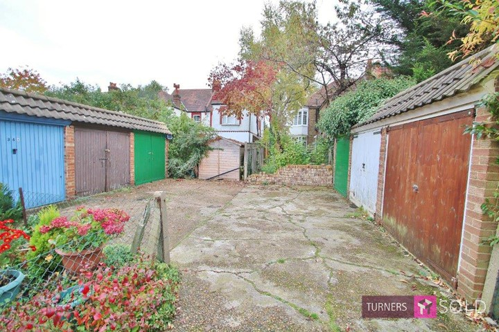 Garage is en-block to property in St James Avenue, Sutton. Turners Property.