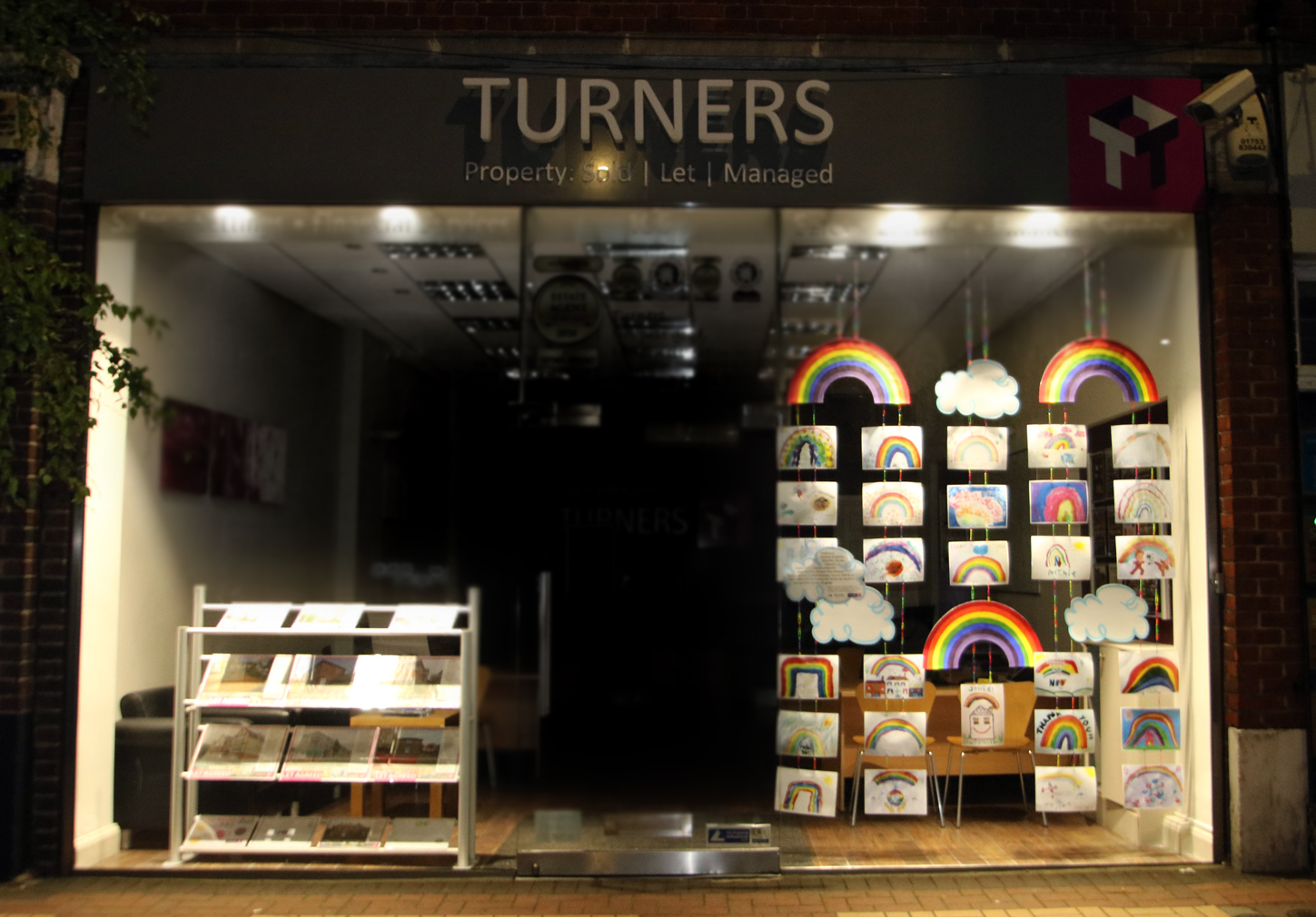 Turners-Property-Clap-For-Carers-Window Display