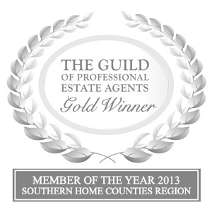 Gold Winner for The Guild Estate Agency 2013 for Southern Home Counties
